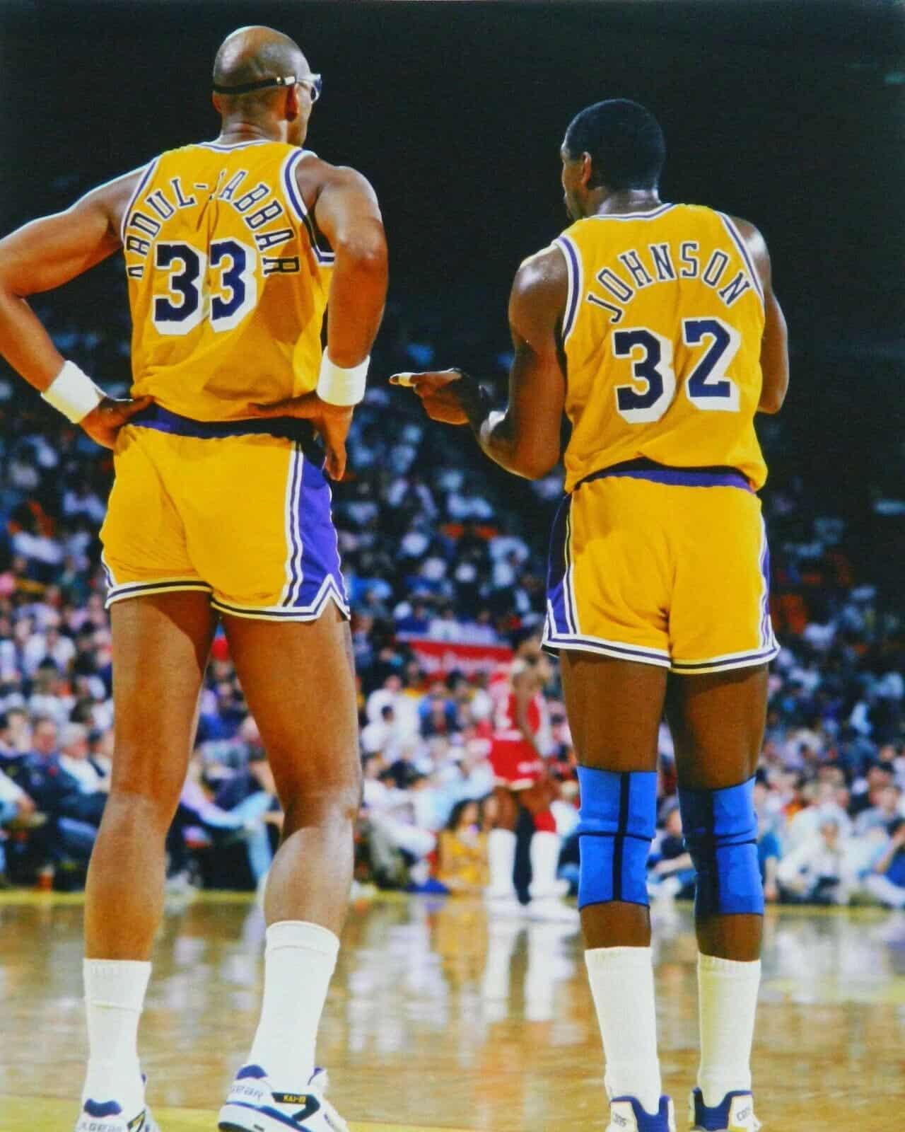 Kareem Abdul Jabbar et Magic Johnson