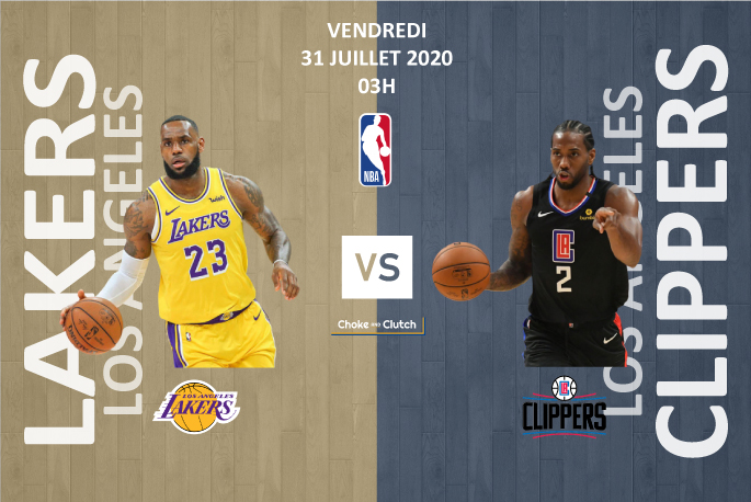 Pronostic NBA : Los Angeles Lakers vs Los Angeles Clippers