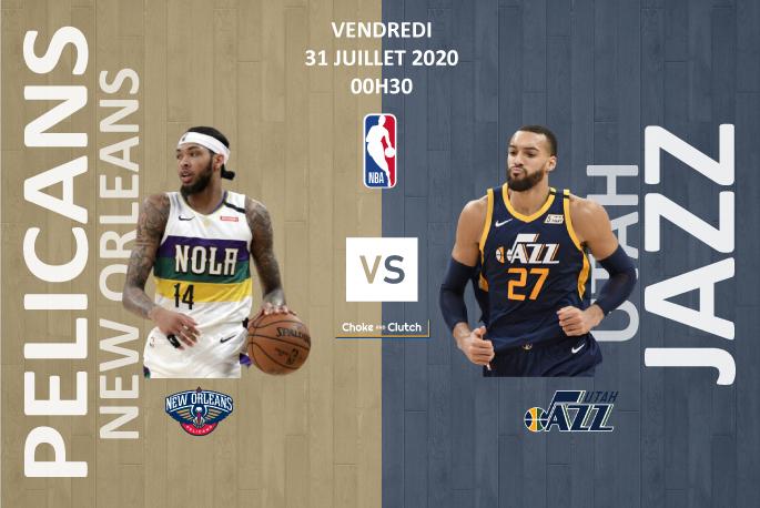 Pronostic NBA : Utah Jazz vs New Orleans Pelicans