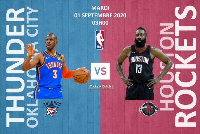 Pronostic NBA : Oklahoma City Thunder vs Houston Rockets