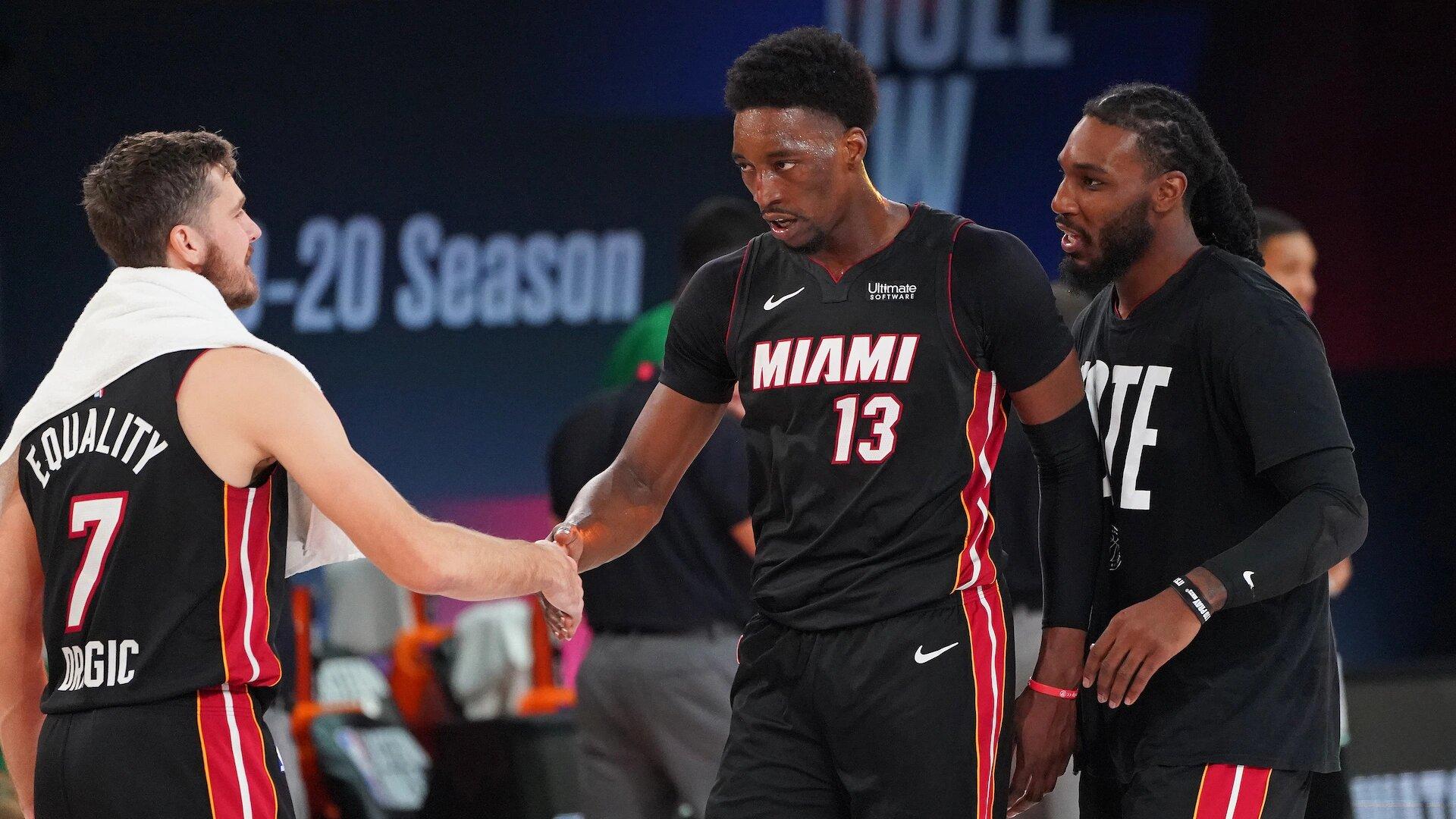 Bam Adebayo et ses coéquipiers du Miami Heat