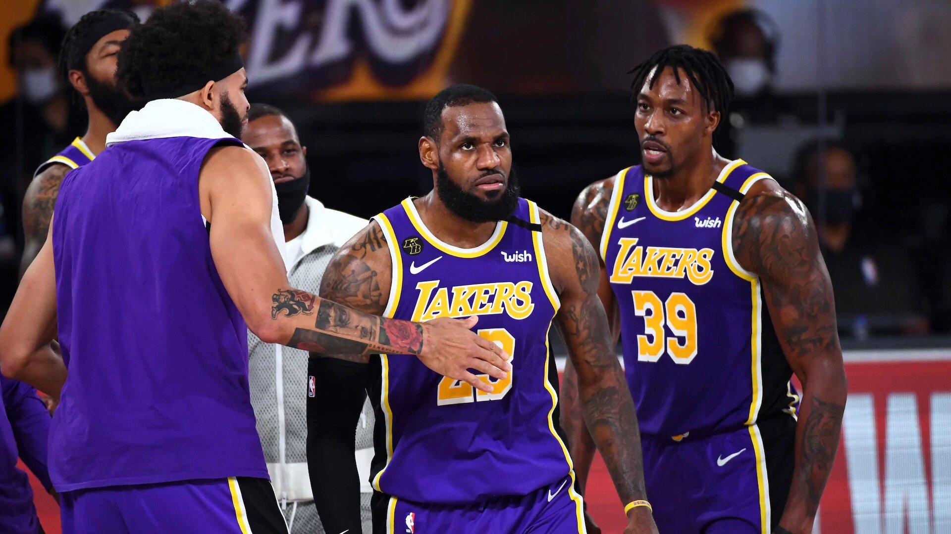 LeBron James et ses coéquipiers des Los Angeles Lakers