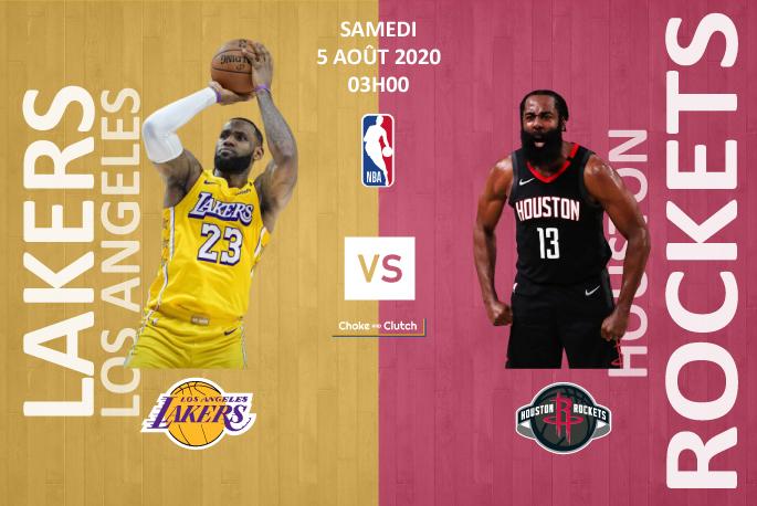 Pronostic NBA : Los Angeles Lakers vs Houston Rockets