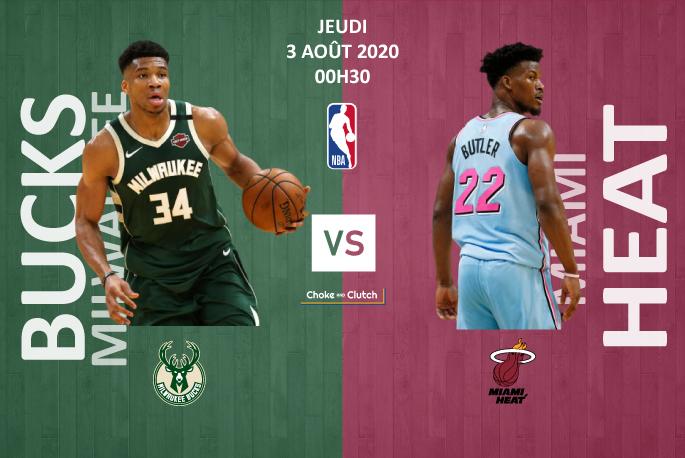 Pronostic NBA : Milwaukee Bucks vs Miami Heat 2020