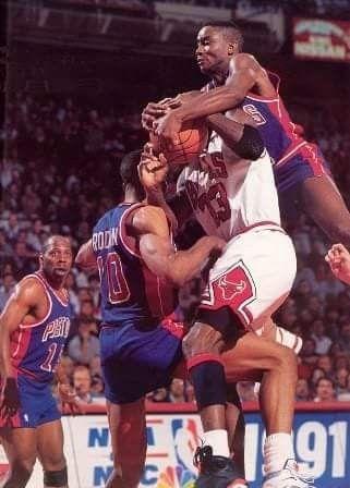 Les Jordan rules utilisées par les Pistons de Detroit en NBA
